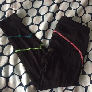 SO yoga legging with colorful stitching